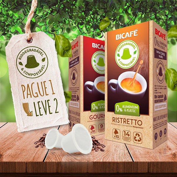 KIT 20 cápsulas Biodegradável para máquinas Nespresso*