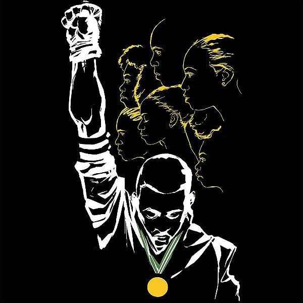Camiseta Direitos Civis Protestados nas Olimpíadas do México, 1968