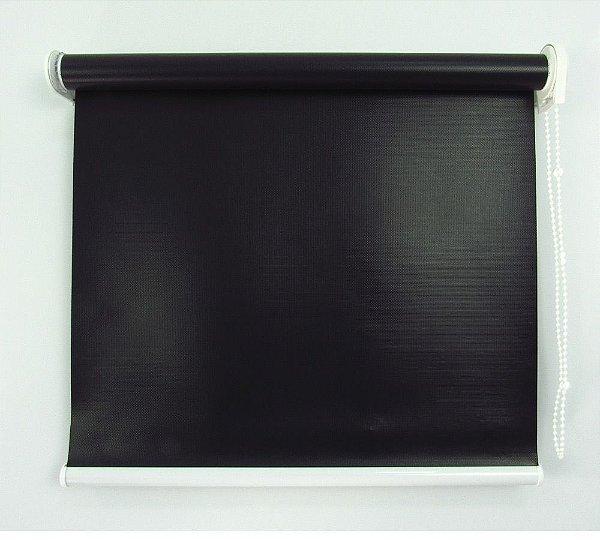 Cortina Rolô Pinpoint Blackout Crisdan 1,50 Largura X 1,50 Altura Preto