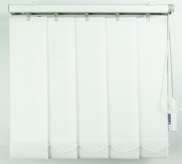 Persiana Vertical Em Tecido Blackout Crisdan Largura 1,90 X 2,30 Altura Branco