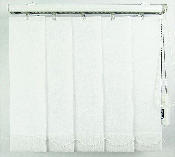 Persiana Vertical Em Tecido Blackout Crisdan Largura 1,35 X 1,35 Altura Branco