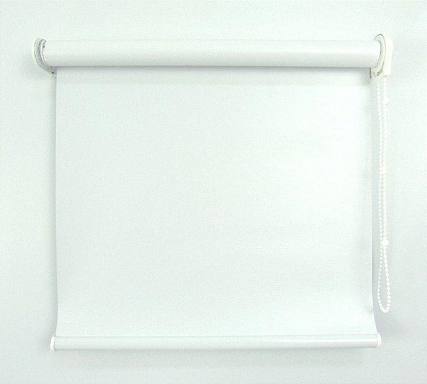 Cortina Rolô Pinpoint Blackout Crisdan 1,20 Largura X 1,20 Altura Branco