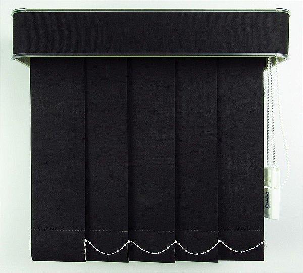 Persiana Vertical Em Tecido Com Bando Crisdan Largura 2,20 X 1,60 Altura Preto