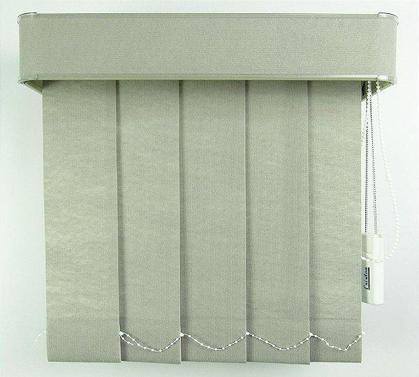 Persiana Vertical Em Tecido Com Bando Crisdan Largura 1,60 X 1,40 Altura Cinza