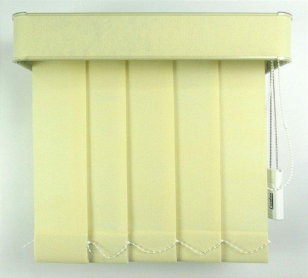 Persiana Vertical Em Tecido Com Bando Crisdan Largura 2,20 X 1,60 Altura Creme