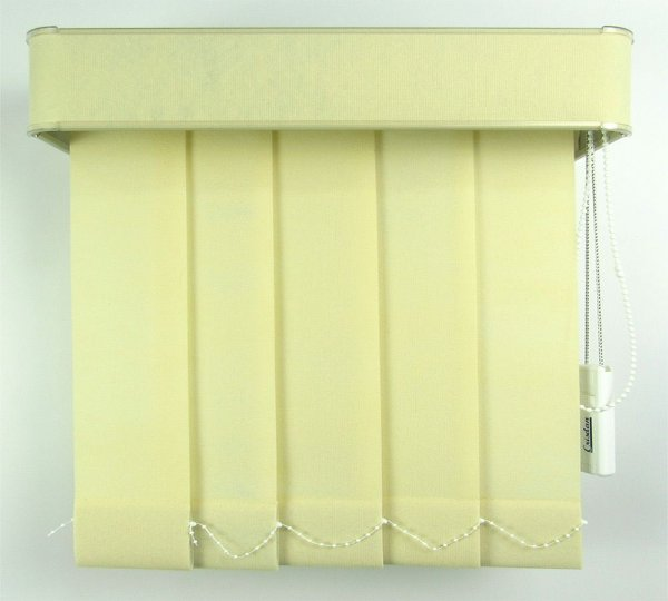 Persiana Vertical Em Tecido Com Bando Crisdan Largura 1,60 X 1,40 Altura Creme