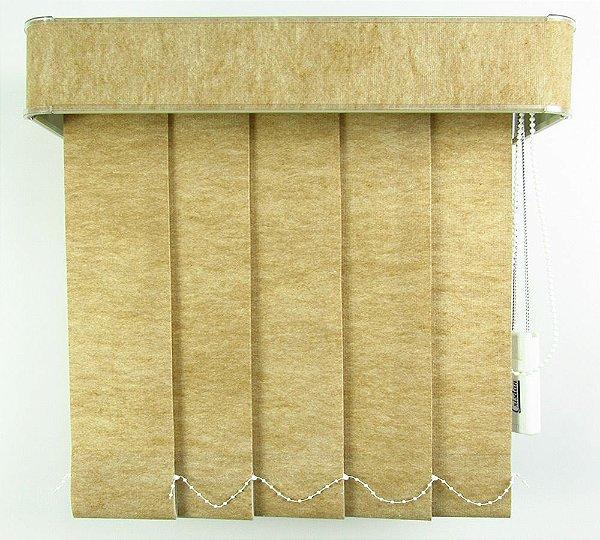 Persiana Vertical Em Tecido Com Bando Crisdan Largura 1,60 X 1,40 Altura Bege Mescla