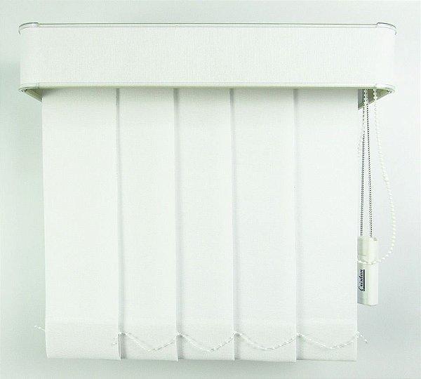 Persiana Vertical Em Tecido Com Bando Crisdan Largura 2,20 X 1,60 Altura Branco