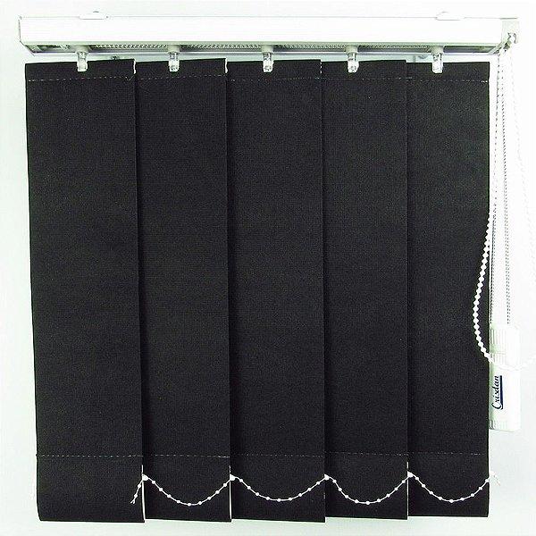 Persiana Vertical Em Tecido Crisdan Largura 1,50 X 1,50 Altura Preto