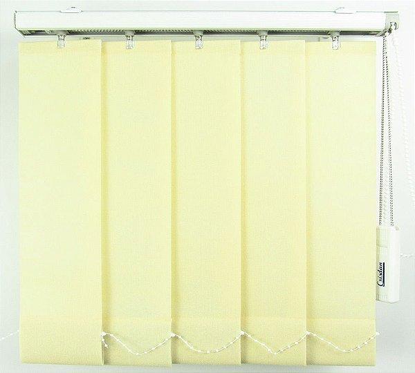 Persiana Vertical Em Tecido Crisdan Largura 2,10 X 2,20 Altura Creme