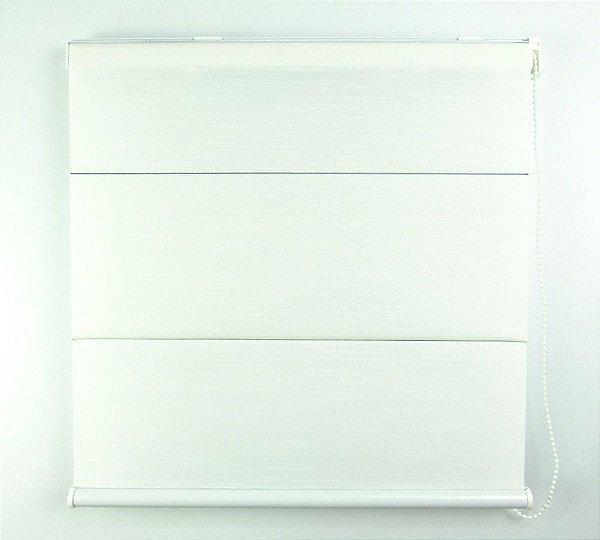 Cortina Romana Napoles Translúcido Crisdan 1,35 Largura X 1,35 Altura Branco