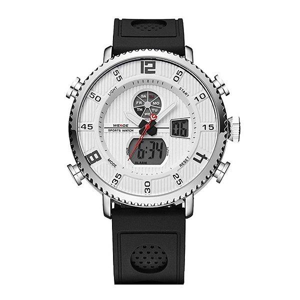 Relógio Masculino Weide AnaDigi WH-6106 - Preto e Branco