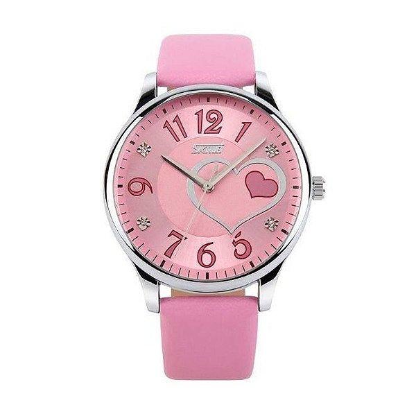 Relógio Feminino Skmei Analógico 9085 Rosa