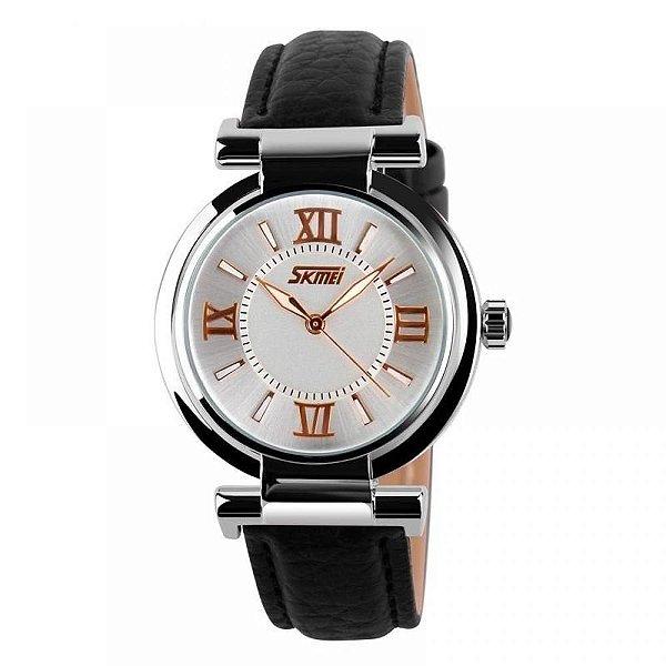 Relógio Feminino Skmei Analógico 9075 - Preto e Branco