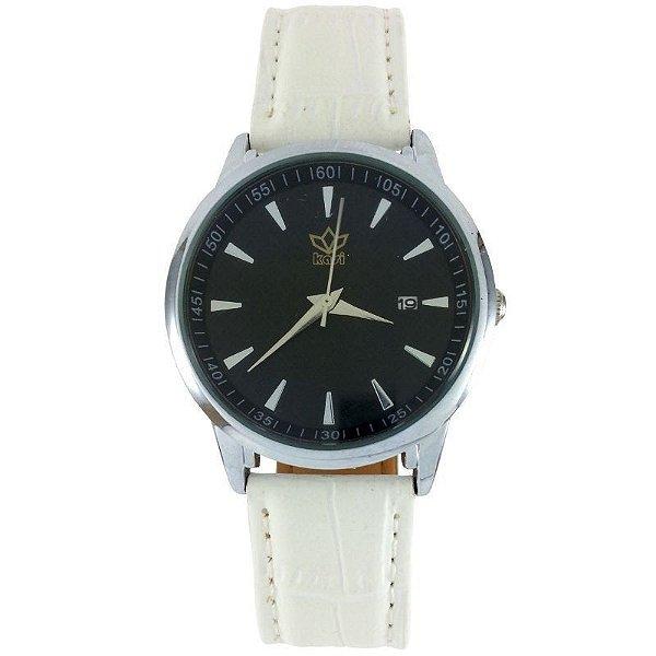 Relógio Analógico Kasi Branco