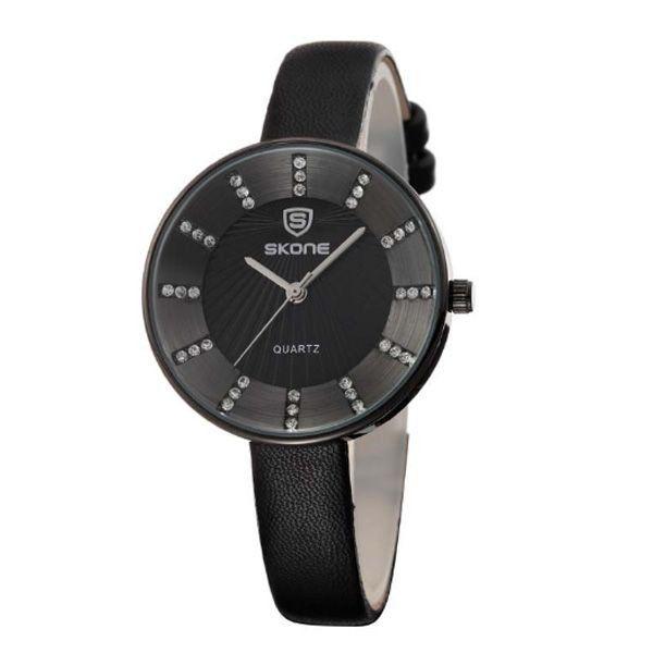 Relógio Feminino Skone Analógico 9250 Preto