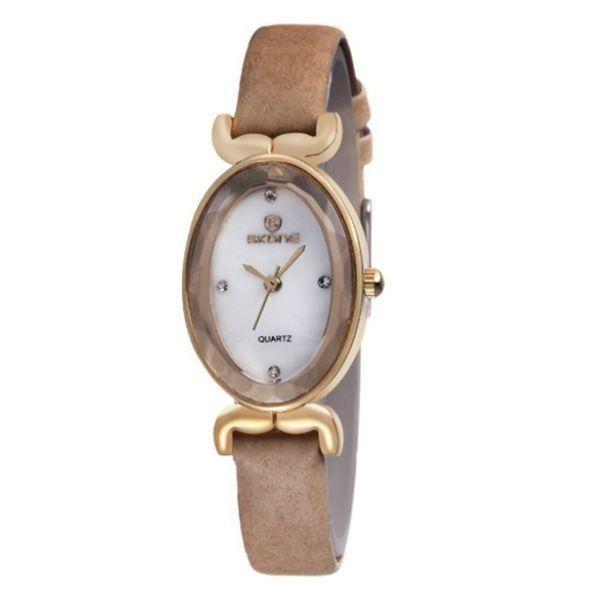 Relógio Feminino Skone Analógico 9276 Bege