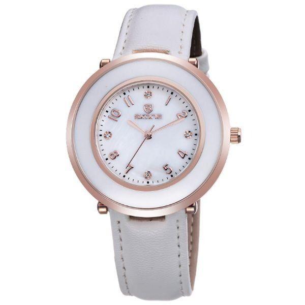 Relógio Feminino Skone Analógico 9293 Branco