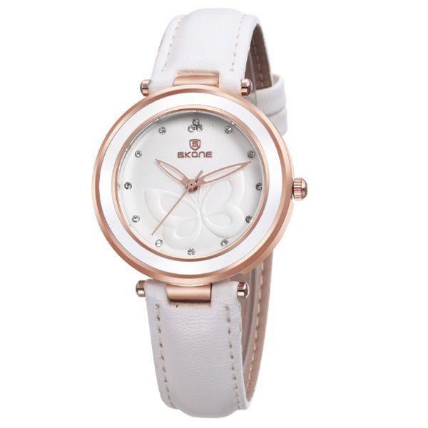 Relógio Feminino Skone Analógico 9294 Branco