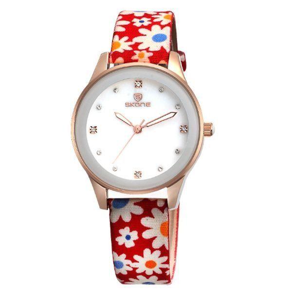 Relógio Feminino Skone Analógico 9386 Vermelho