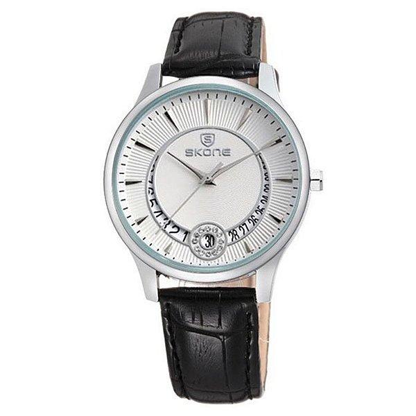 Relógio Feminino Skone Analógico Casual 9242BG Branco
