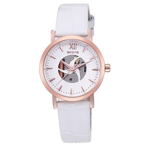 Relógio Feminino Skone Analógico Casual 9311 Branco