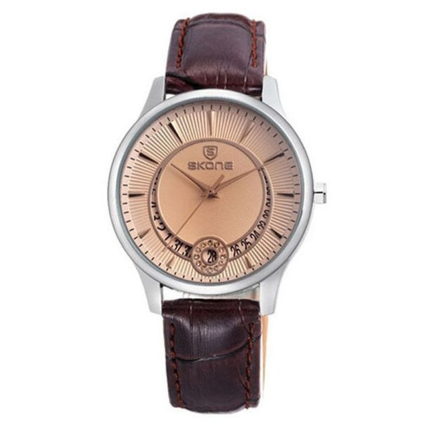 Relógio Feminino Skone Analógico Casual 9242BG Marrom
