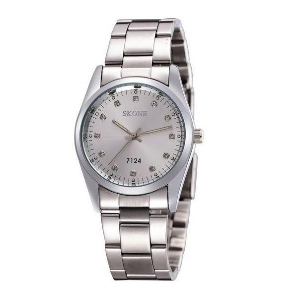Relógio Feminino Skone Analógico Casual 7124 Prata