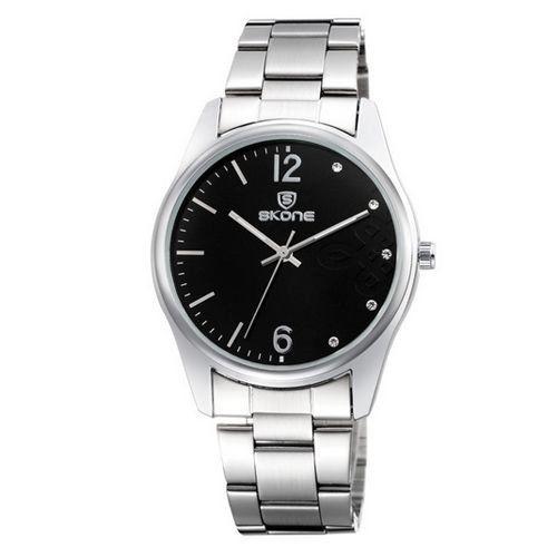Relógio Feminino Skone Analógico Casual 7297L Preto