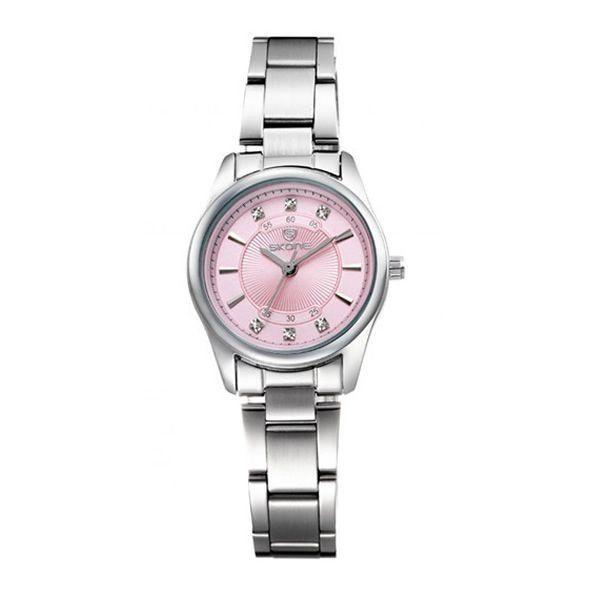 Relógio Feminino Skone Analógico Casual 7298L Rosa