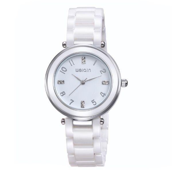 Relógio Feminino Weiqin Analógico Cerâmica W3210 Branco