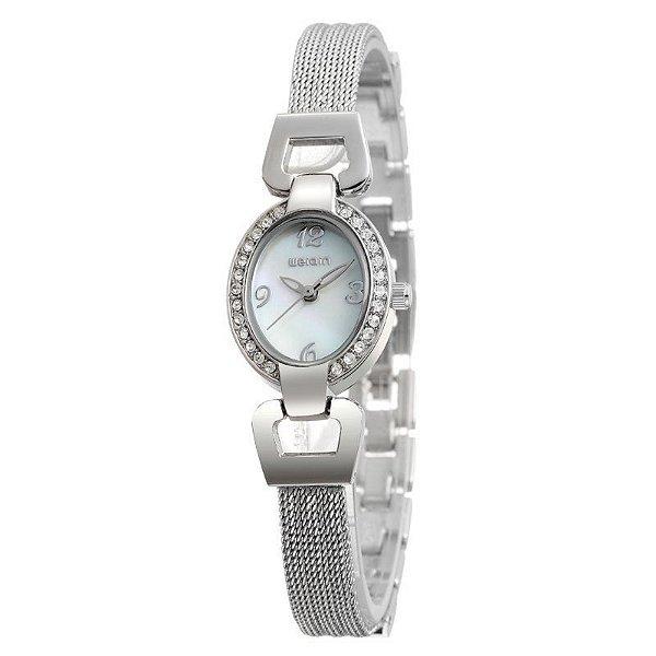 Relógio Feminino Weiqin Analógico W4592 Branco