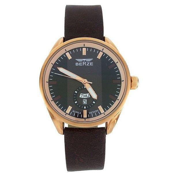 Relógio Masculino Analógico Berze BT170M Marrom e Preto