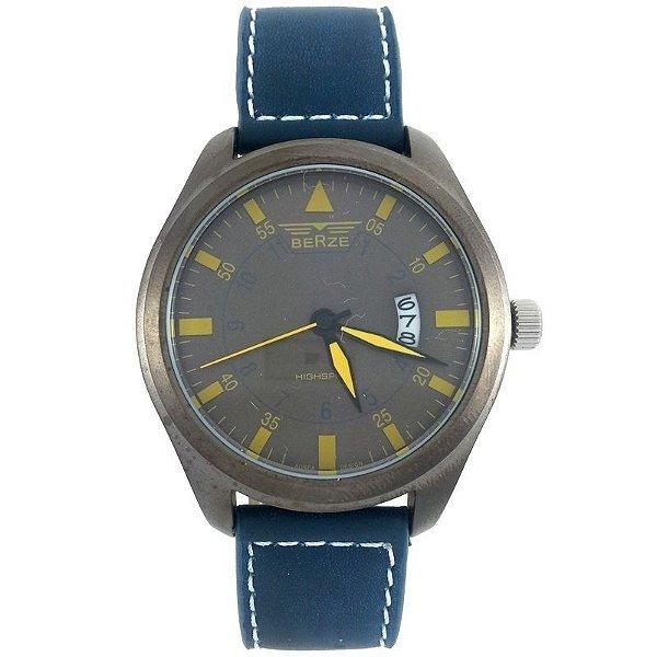 Relógio Analógico Social Berze BT161 Azul e Bronze