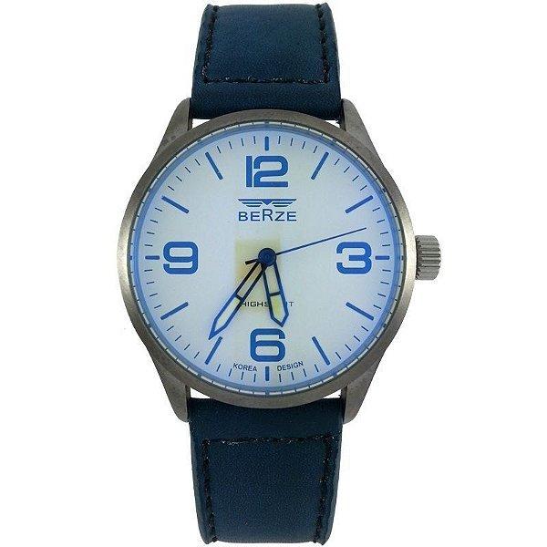 Relógio Analógico Social Berze BT168 Azul e Bege