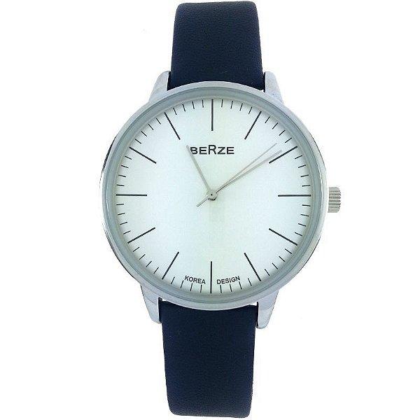 Relógio Analógico Social Berze BT238M Azul e Branco
