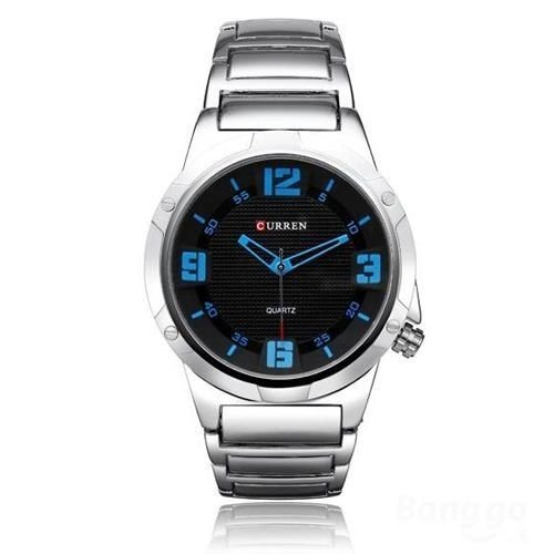 Relógio Masculino Curren Analógico 8111 Prata e Azul