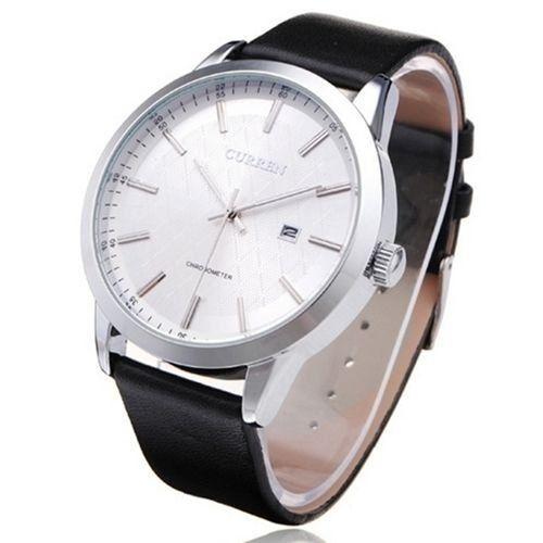 Relógio Curren Analógico 8114 Preto e Prata