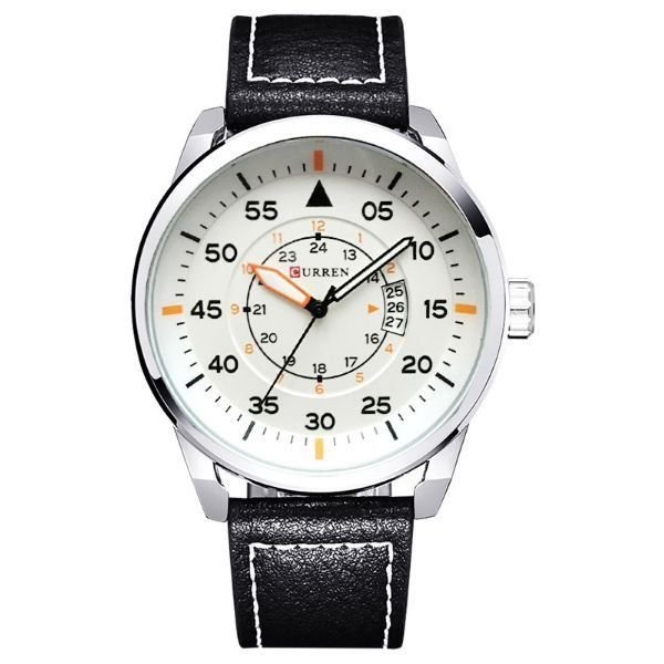 Relógio Masculino Curren Analógico 8210 Branco