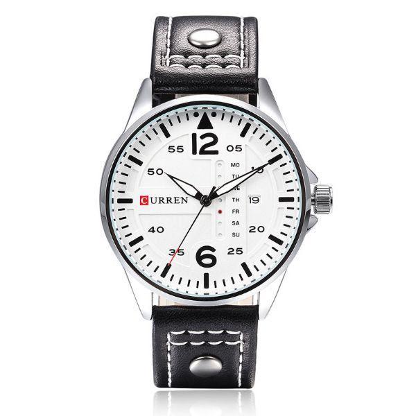 Relógio Masculino Curren Analógico 8224 Branco