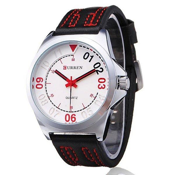 Relógio Masculino Curren Analógico Casual 8153 Branco