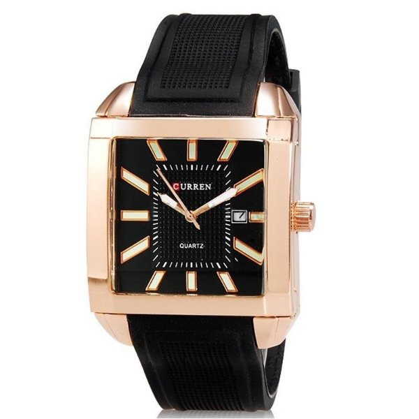 Relógio Masculino Curren Analógico Casual 8145 Bronze