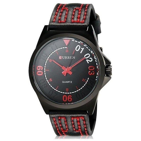 Relógio Masculino Curren Analógico Casual 8153 Preto