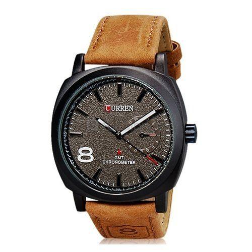 Relógio Masculino Curren Analógico Casual 8139 Preto e Marrom