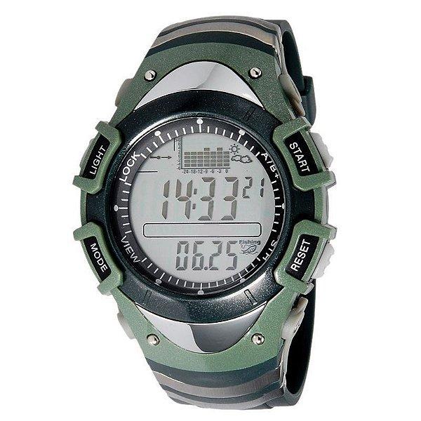 Relógio Masculino Digital Esporte Barometro Altimetro Previsão do Tempo FX704G Spovan