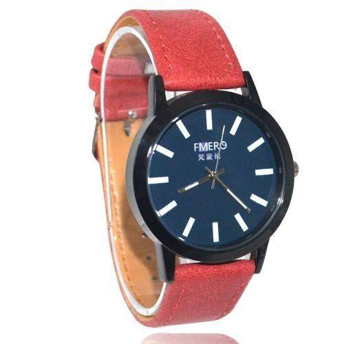 Relógio Masculino Kasi/Fmero Analógico Casual Y023 Vermelho