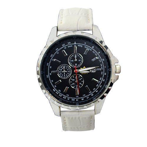 Relógio Masculino Kasi/Fmero Analógico Casual Y005 Branco