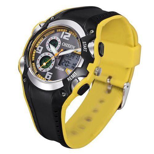 Relógio Masculino Ohsen AnaDigi Esporte AD1309 Amarelo