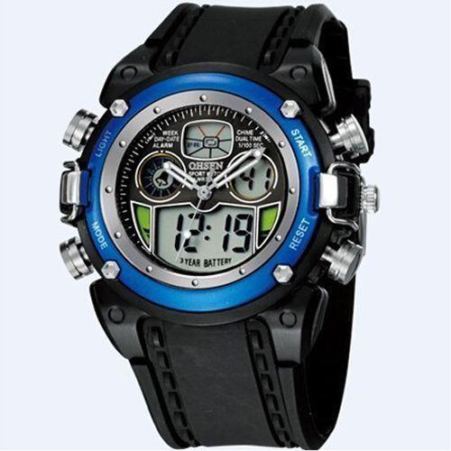 Relógio Masculino Ohsen AnaDigi Esporte AD0721 Azul