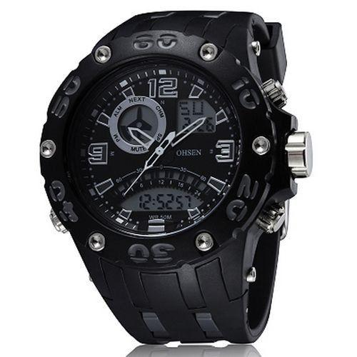 Relógio Masculino Ohsen AnaDigi Esporte AD2801 Cinza